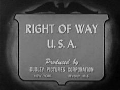 "1950's train film ""Right of Way USA""  by the Association of American Railroads"