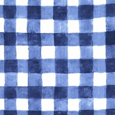 Sommer Mini Painted Gingham Gauze Navy - Fabric HQ