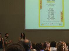 Elena y Julián. Directores del Proyecto Imagine Elephants. Estreno en la Universitat de Girona.