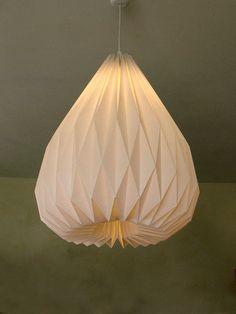 SNOWDROP XL origami lampshade. via Etsy.
