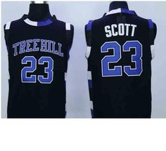 Players -Nathan Scott. Name - Jersey RAVENS 23 JERSEY. Movie Name - ONE TREE HILL. Good quality jersey, breathable and quick-dry. -The sizes are not for young children. They are from youth and older.  Players -Nathan Scott Movie Name -  ONE TREE HILL Name - Jersey RAVENS 23 JERSEY Color - White Blue BLACK