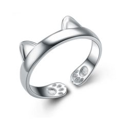 Cute Cat Paws Ring - 925 Sterling Silver