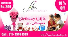 Birthday Flower Delivery Online - Flower Boutique India Has Largest Collection of Flowers, Gifts and Chocolates You can Send Birthday Gifts to Delhi. Send Birthday Gifts, Special Birthday, Birthday Flower Delivery, Flower Boutique, Send Flowers