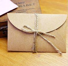 Mini buste carta craft 9 x 6 cm per regalo di FlowersFavours