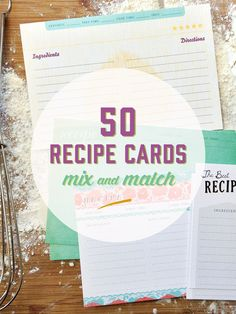 Keep your favorite recipes well documented and organized with our super duper recipe cards. Rate them, describe them, categorize them... anything you want! We gave you room to leave the most important