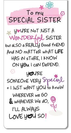 Special Sister Inspired Words Magnetic Bookmark Sentimental Gift Range & Garden - Special Sister Inspired W Birthday Greetings For Sister, Happy Birthday Quotes For Friends, Birthday Wishes Messages, Younger Sister Birthday Quotes, Birthday Messages For Sister, Happy Birthday Elder Sister, Birthday Caption For Sister, Happy Birthday Sister Pictures, Happy Birthday Didi