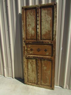 Antique Mexican Old Door #1-Primitive-Rustic-33x82-Headboard-Table-Gorgeous-Spanish-Iron Clavos-Distressed-Barn Doors by RanchoAdobe on Etsy