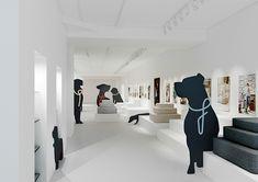 Cloud 7 Pop-up-Store at Normann Copenhagen Clinic Interior Design, Clinic Design, Pet Shop, Pet Store Display, Dog Trailer, Dog Spa, Dog Grooming Salons, Shelter Design, Dog Cafe