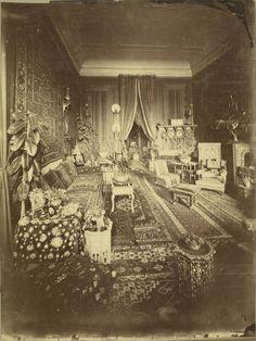 Moroccan interior, vintage photo