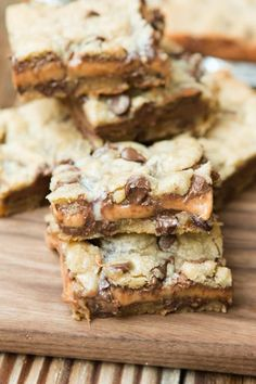 These rolo blondies are a must make for your next get together!