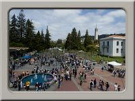 """Self Guided Cal tour of campus = Podcast tours: Download our video podcast tour in English or Spanish onto your iPhone, iPod or other MP3 player, or home computer. (A limited number of iPods are available on loan at the Visitor Center.) Simply go to Berkeley on iTunes U, and search for """"UC Berkeley Audio Tour""""."""