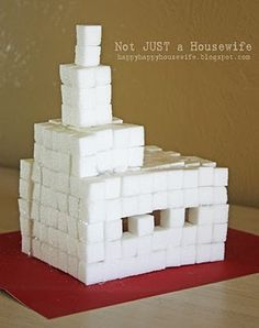 Sugar cube castles. OR, you could glue together a sugar cube igloo and put some toy polar bears with it or something - winter scenes!