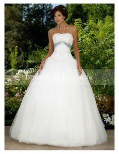 Stilvoll Tülle Trägerloser Ausschnitt Duchesse-Linie Hochzeitskleid WD0291