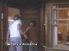 """Murphy's Romance"", 1985. Starring Sally Field and James Garner. Emma is a divorced woman with a teen aged boy who moves into a small town and tries to make a go of a horse ranch. Murphey is the town druggist who steers business her way. Things are going along predictably until her ex husband shows up, needing a place to stay. **Such good chemistry between Sally Field and James Garner!**"