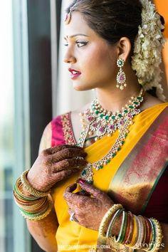 Beautiful South Indian Bridal Jewellery #SouthIndian #BridalJewellery