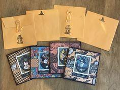 Steampunk Spells Halloween Greeting Card Set With Envelopes - https://www.etsy.com/shop/AllisonCraftland