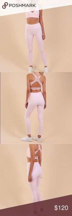 gymshark chalk pink leggings NWT size extra small. brand new!! has tags on them. sold out everywhere gymshark Pants Leggings