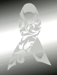 White ribbon representing Lung Cancer Awareness.