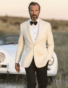 Charming White Groom Tuxedo Wedding Jacket Ideas - M&Ch - White Tuxedo Wedding, Groom Tuxedo Wedding, Wedding Suits, Ivory Tuxedo, Wedding Tuxedos, Party Wedding, Bride Groom, Wedding Reception, Wedding Dress