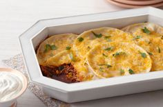 Chicken Enchilada Bake recipe -gonna try this with low-fat cheese and fat free sour cream!