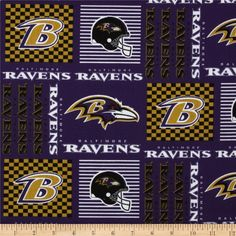 Cheer on the Baltimore Ravens your favorite NFL team with this NFL cotton broadcloth fabric. Perfect for use in quilting projects, craft projects and even apparel.