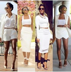 Cute all white outfit ideas.