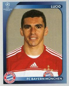 FC BAYERN MUNICH - Lucio 147 PANINI Champions League 2008 2009 Football Sticker