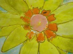 elementary art-  Georgia O'Keefe Flowers