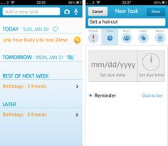 24me is a robust iOS app for tracking daily chores, bill payments and birthdays