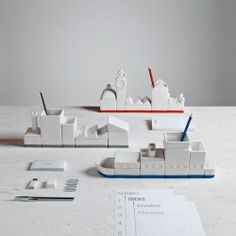 Seletti The City Desk Organizer set