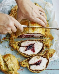 Jamie Oliver's Turkey Wellington...note there is a link where you can convert grams to ounces etc.