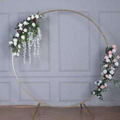 x Adjustable Heavy Duty Pipe and Drape Kit Backdrop Support with Weighted Steel Base Ft Gold Metal Round Wedding Arch Photo Booth Backdrop Stand Party Kulissen, Festa Party, Metal Wedding Arch, Metal Arch, Simple Wedding Arch, Copper Wedding, Gold Wedding, Wedding Flowers, Floral Arch
