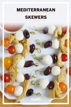 Skewers are made for summer! Try this amazing recipe for your next grilling experience! #mediterraneanrecipes #skewers