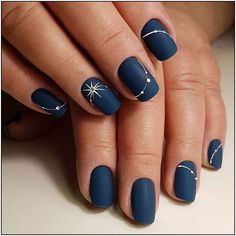 ✅ nude nail polish Signal 25 New Year's manicure ideas series of these ideas # note # ideas # manicure # new year Nail art; – img) Would you like to see new nail art? These nail designs are … Simple Nail Art Designs, Best Nail Art Designs, Navy Blue Nail Designs, New Years Nail Designs, Solid Color Nails, Nail Colors, Neutral Colors, Nail Art Halloween, Navy Blue Nails
