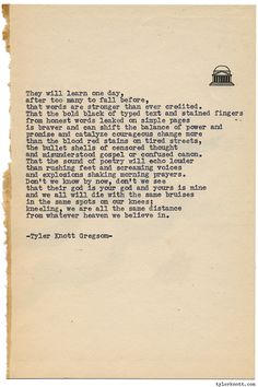 Typewriter Series #1066 by Tyler Knott Gregson*Chasers of the Light, is available through Amazon, Barnes and Noble, IndieBound , Books-A-Million , Paper Source or Anthropologie *
