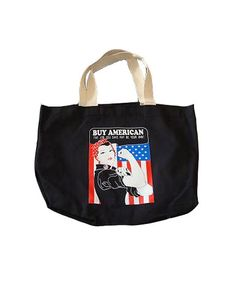 BUY AMERICAN Canvas Tote Bag  Made In USA by IDILVICE, $48.00