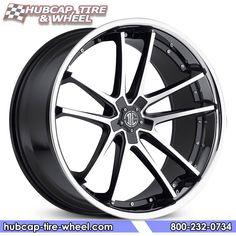 2Crave No.34 Gloss Black Machined w/ Chrome Lip Wheels & Rims