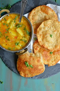 These Bedmi Pooris (lentil stuffed poori) are so easy to make, and make a filling and delicious breakfast when served with Aloo sabzi. I would suggest serving with Mathura ke dubki wale aloo. Vegan Indian Recipes, Asian Recipes, Vegetarian Recipes, Cooking Recipes, Puri Recipes, Paratha Recipes, Indian Street Food, South Indian Food, Indian Dishes