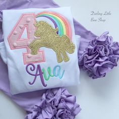 Unicorn Birthday Shirt or Bodysuit  A Magical Birthday