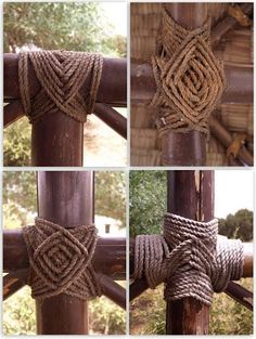 How to tie japanese knots make bamboo fences and trellis bamboo bamboo knots solutioingenieria Image collections