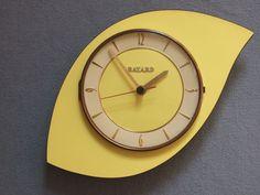 PENDULE BAYARD des années 60 / FORMICA in Art, antiquités, Meubles, décoration, XXème, Design du XXème siècle | eBay