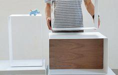 可收可放的方格收納盒