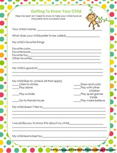 Free Kindergarten Student Interest Survey to be completed by the parents Student Interest Inventory, Student Interest Survey, Student Survey, Student Info, Preschool Forms, Daycare Forms, Kindergarten Classroom, Classroom Ideas, Free Preschool