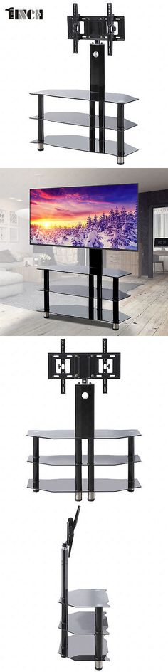 Entertainment Units TV Stands 20488: Tempered Glass Tv Stand For 32 -55 Plasma Lcd Tv Media Console W Bracket Black -> BUY IT NOW ONLY: $63.9 on eBay!