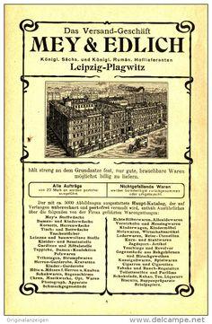 Original-Werbung/Inserat/ Anzeige 1903 - MEY & EDLICH / LEIPZIG-PLAGWITZ ca. 180 x 120 mm