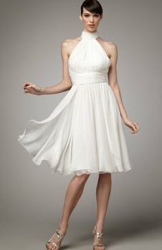 White halter dress