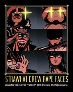 Strawhat Crew Rape Faces