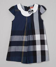 Navy Plaid Swing Dress - Toddler & Girls #zulily #zulilyfinds