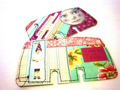Fabric Rolodex Cards by bonitarosek, via Flickr