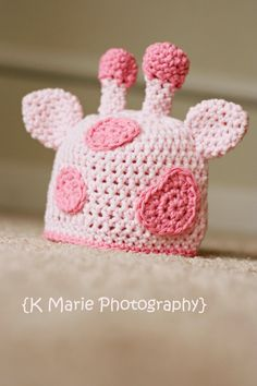 Newborn Gina the Giraffe Newborn Hat Photography by kmariephotos, $25.00